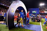 Atletico de Madrid's player Saúl Ñígez and CF Rostov's player Vladimir Granat during a match of UEFA Champions League at Vicente Calderon Stadium in Madrid. November 01, Spain. 2016. (ALTERPHOTOS/BorjaB.Hojas)