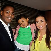 NLD/Ridderkerk/20120222 - Presentatie Helden, vader Patrick Kluivert en zoon Shane Kluivert en partner Rosanna Lima