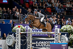 BEERBAUM Ludger (GER), Cool Feeling <br /> Göteborg - Gothenburg Horse Show 2019 <br /> Longines FEI World Cup™ Final II - Jump-Off/Stechen<br /> Int. jumping competition with jump-off (1.50 - 1.60 m)<br /> Longines FEI Jumping World Cup™ Final and FEI Dressage World Cup™ Final<br /> 05. April 2019<br /> © www.sportfotos-lafrentz.de/Stefan Lafrentz