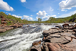 White water rapids in the Kimberley's Roe River.