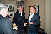 GRAYDON CARTER; LEN BLAVATNIK;, Graydon Carter hosts a dinner to celebrate the reopening og the American Bar at the Savoy.  Savoy Hotel, Strand. London. 28 October 2010. -DO NOT ARCHIVE-© Copyright Photograph by Dafydd Jones. 248 Clapham Rd. London SW9 0PZ. Tel 0207 820 0771. www.dafjones.com.
