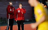 Fotball<br /> Adeccoligaen<br /> Melløs Stadion 17.10.10<br /> Moss - Strømmen<br /> Thomas Berntsen med Petter Myhre<br /> Foto: Eirik Førde