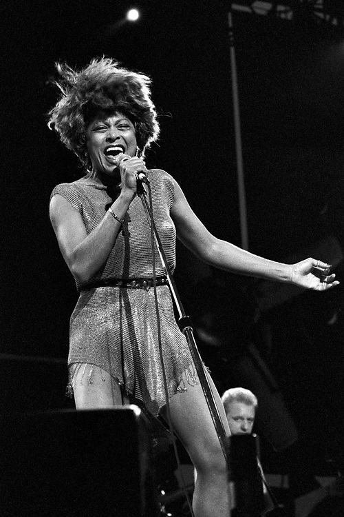 ALLENTOWN - JULY 9: Tina Turner performs at the Allentown Fairgrounds on July 9, 1993, in Allentown, Pennsylvania. (Photo by Lisa Lake)