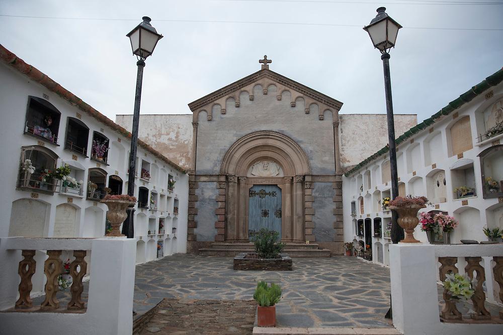 Cemetery in Cadaques, Salvador Dali's hometown, Girona, Catalonia, Spain.
