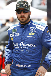 April 13, 2018 - Bristol, Tennessee, United States of America - April 13, 2018 - Bristol, Tennessee, USA: Martin Truex, Jr (78) hangs out in the garage during practice for the Food City 500 at Bristol Motor Speedway in Bristol, Tennessee. (Credit Image: © Chris Owens Asp Inc/ASP via ZUMA Wire)
