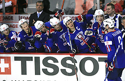 Tomaz Razingar of Slovenia scored at penalty shot at ice-hockey game Slovenia vs Slovakia at second game in  Relegation  Round (group G) of IIHF WC 2008 in Halifax, on May 10, 2008 in Metro Center, Halifax, Nova Scotia, Canada. Slovakia won after penalty shots 4:3.  (Photo by Vid Ponikvar / Sportal Images)