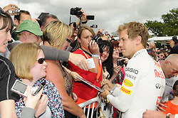 © Licensed to London News Pictures. 30/06/2012 .Sebastian Vettel sign autographs at The Goodwood Festival of Speed..The Goodwood Festival of Speed is the largest motoring garden party in the world - a unique summer weekend, The largest car culture event in the world. Held in the grounds of Goodwood House,Chichester..Photo credit : Grant Falvey/LNP