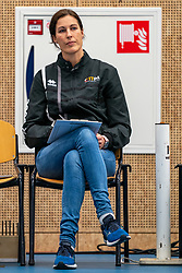 Ass coach Francien Huurman of Talent Team in action in the first league match in the corona lockdown between Talentteam Papendal vs. Sliedrecht Sport on January 09, 2021 in Ede.