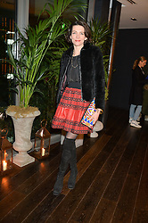 THOMASINA MIERS at the Launch Of Osman Yousefzada's 'The Collective' 4th edition with special guest collaborator Poppy Delevingne held in the Rumpus Room at The Mondrian Hotel, 19 Upper Ground, London SE1 on 24th November 2014, sponsored by Storm models and Beluga vodka.