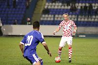 Osijek,23.03.2015. The stadium Municipal Garden played a friendly football match, Croatia - Israel. On picrture Domagoj Vida<br /> Foto Mario CUZIC/Zagreb news agency