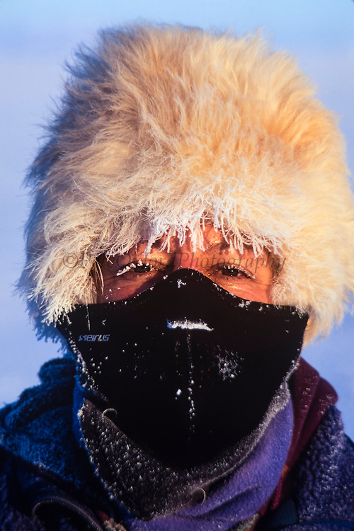 Renee Bish<br /> while photographing at -40º<br /> Darkhad Depression<br /> Northern Mongolia