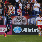 Daniel Paladini, Chicago Fire, celebrates after assisting in his sides second goal during the New York Red Bulls V Chicago Fire Major League Soccer regular season match at Red Bull Arena, Harrison. New Jersey. USA. 6th October 2012. Photo Tim Clayton