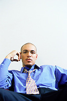 Businessman portrait with model and musician/singer, Bryan Guy.