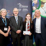 27.04.2016.          <br />  Kalin Foy and Ciara Coyle win SciFest@LIT<br /> Kalin Foy and Ciara Coyle from Colaiste Chiarain Croom to represent Limerick at Ireland's largest science competition.<br /> <br /> Coláiste Chiarain students, Róisín Casey and Dorota Golinksa's project, Is radon gas slowly killing you?, was Junior Second in the Life Sciences Category. Róisín Casey is pictured with George Porter, SciFest and Brian Aherne, Intel<br /> <br /> Of the over 110 projects exhibited at SciFest@LIT 2016, the top prize on the day went to Kalin Foy and Ciara Coyle from Colaiste Chiarain Croom for their project, 'To design and manufacture wireless trailer lights'. The runner-up prize went to a team from John the Baptist Community School, Hospital with their project on 'Educating the Youth of Ireland about Farm Safety'. Picture: Alan Place