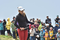 October 1, 2017 - Auckland, Auckland, New Zealand - Mexican's Gaby Lopez tees off during the final round of the MCKAYSON New Zealand Women's Open at Windross Farm in Auckland, New Zealand on Oct1, 2017. Featuring World Number One Lydia Ko, The MCKAYSON New Zealand Women's Open is the first ever LPGA Tour event to be played in New Zealand. (Credit Image: © Shirley Kwok/Pacific Press via ZUMA Wire)