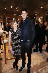 Actress CHLOE MORETZ and her brother TREVOR MORETZ at a Cocktail party to celebrate the opening of the new Miu Miu boutique, 150 New Bond Street, London hosted by Miuccia Prada and Patrizio Bertelli on 3rd December 2010.