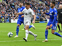 Football - 2018 /2019  Premier League - Cardiff City vs. Burnley<br /> <br /> Ashley Westwood of Burnley prepares to cross to set up Burnley's 1st goal, at the Cardiff City Stadium<br /> <br /> COLORSPORT/WINSTON BYNORTH