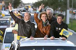 A candidata ao governo do Estado do RS, Yeda Crusius durante carreata em Rio Grande. FOTO: Jefferson Bernardes/Preview.com