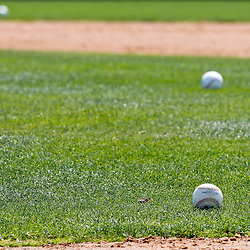 March 12, 2012; Dunedin, FL, USA; A detail of baseballs on the field before a a spring training game against the Baltimore Orioles at Florida Auto Exchange Stadium. Mandatory Credit: Derick E. Hingle-US PRESSWIRE