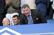 England Manager Sam Allardyce takes his seat in the stands ahead of k/o. Premier league match, Everton v Stoke city at Goodison Park in Liverpool, Merseyside on Saturday 27th August 2016.<br /> pic by Chris Stading, Andrew Orchard sports photography.