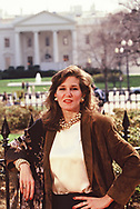 Mary Matalin pose in LaFayette Park<br /><br />Photograph by Dennos Brack  bb77