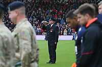 Football - 2018 / 2019 Premier League - AFC Bournemouth vs. Manchester United<br /> <br /> The last post is played pitch side on the bugle after the pre match minute silence at the Vitality Stadium (Dean Court) Bournemouth  <br /> <br /> COLORSPORT/SHAUN BOGGUST