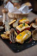 """""""Rocoto relleno con papas nativas"""", a traditional dish reprocessed at La Bodega de la Chola"""