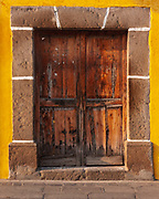 One of the many pastel doors in Antgua de Guatemala. This UNESCO heritage city has some of the finest examples of Spanish colonial architecture.