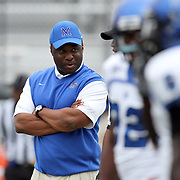 Memphis Head Coach Larry Porter during an NCAA football game between the Memphis Tigers and the Central Florida Knights at Bright House Networks Stadium on Saturday, October 29, 2011 in Orlando, Florida. (AP Photo/Alex Menendez)