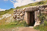 Photo of the gates which led to tunnels under the walls of the Hittite capital Hattusa 5