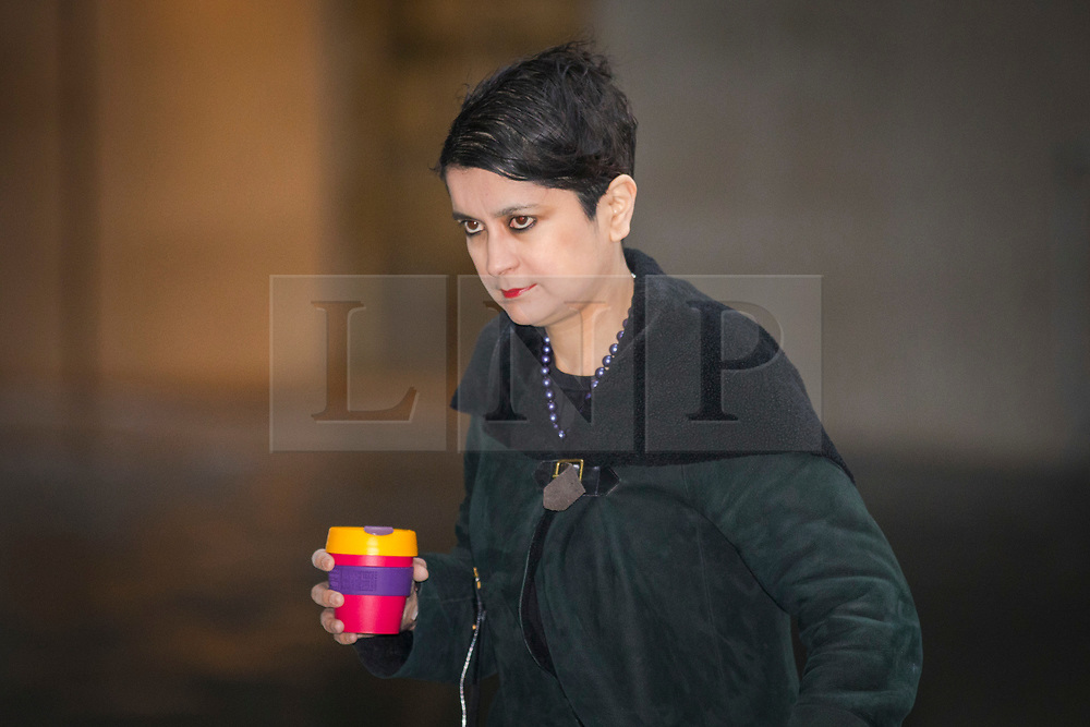 © Licensed to London News Pictures. 18/03/2018. London, UK. Shadow Attorney General for England and Wales Shami Chakrabarti arrives at BBC Broadcasting House to appear on The Andrew Marr Show. Photo credit: Rob Pinney/LNP