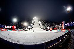 General view of the hill during Qualifications Round at Day 1 of FIS Ski World Flying Championship Planica 2020, on December 10, 2020 in Planica, Kranjska Gora, Slovenia. Photo by Vid Ponikvar / Sportida