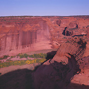 Canyon de Chelly National Monument on the Navajo Reservation in Arizona. .White House Ruin can be seen in the distance.