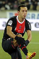 FOOTBALL - FRENCH CHAMPIONSHIP 2011/2012 - L1 - PARIS SAINT GERMAIN v EVIAN TG - 4/02/2012 - PHOTO JEAN MARIE HERVIO / REGAMEDIA / DPPI - JOY NENE (PSG) AFTER HIS 2ND GOAL