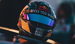 01.02.2020, Flugplatz, Zell am See, AUT, GP Ice Race, im Bild Red Bull Rennhelm // Red Bull Race Helmet during the GP Ice Race at the Airfield, Zell am See, Austria on 2020/02/01. EXPA Pictures © 2020, PhotoCredit: EXPA/ JFK