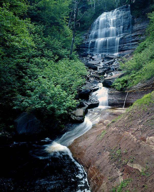 Lower Manganese Falls, Houghton County, Michigan, May, 1988