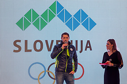 Sandi Murovec during  Official presentation of the Designer wear for Slovenian Athletes at PyeongChang Winter Olympic Games 2018, on December 19, 2017 in Grand Hotel Union, Ljubljana, Slovenia. Photo by Urban Urbanc / Sportida