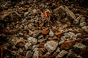 Carl's Dinner is probably the most famous and most feared section on the course. The end is nearly in sight, but by that stage in the race you're exhausted. A near 1km long section of track, it's nothing but rocks and boulders all the way. It's brutal. In 2016 only 9 riders out of 1500 did finish the race.