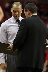 29 December 2014:  Jestion Anderson, Mike Kindhart during an NCAA non-conference interdivisional exhibition game between the Quincy University Hawks and the Illinois State University Redbirds at Redbird Arena in Normal Illinois.
