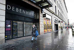 Glasgow, Scotland, UK.1 December 2020. Debenhams is preparing for its last Christmas and will start closing down its 124 shops after rescue talks with JD Sports failed.  About 12,000 jobs are at risk. Pictured; Debenhams closed department store on Argyle Street.  Iain Masterton/Alamy Live News