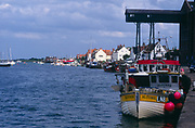 AE2KRC Boats and quayside Wells - next- the -sea, Norfolk, England