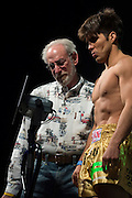 Henry Cejudo weighs in during the UFC weigh-in at the Mexico City Arena in Mexico City, Mexico on June 12, 2015. (Cooper Neill)