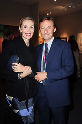 Private View of the Pavilion of Art & Design London 2010 held in Berkeley Square, London on 11th October 2010.<br /> Picture Shows:- ALLEGRA HICKS and GERARD FAGGIONATO