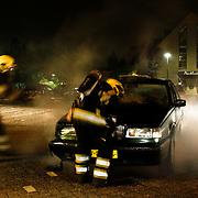 NLD/Huizen/20100610 - Autobrand aan de Plecht in Huizen