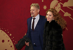 Peter Schmeichel and girlfriend Laura von Lindholm arriving for the FIFA 2018 World Cup draw at The Kremlin, Moscow. PRESS ASSOCIATION Photo Picture date: Friday December 1, 2017. See PA story SOCCER World Cup. Photo credit should read: Nick Potts/PA Wire. RESTICTIONS: Editorial use only. No transmission of sound or moving images. No use with any unofficial third party logos. No altering or adjusting of photographs.