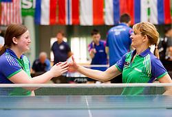 Barbara Meglic and Andreja Dolinar of Slovenia at 9th Slovenia Open - Thermana Lasko 2012 - Table Tennis Tournament for the Disabled, on May 12, 2012, in Dvorana Tri Lilije, Lasko, Slovenia. (Photo by Vid Ponikvar / Sportida.com)