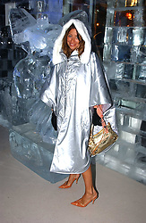 REBECCA LOOS at a party to celebrate the opening of the Absolut Icebar London, 134 Heddon Street, London on 29th September 2005.<br />