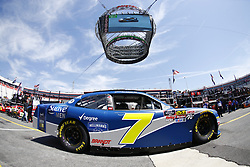 April 13, 2018 - Bristol, Tennessee, United States of America - April 13, 2018 - Bristol, Tennessee, USA: Justin Allgaier (7) drives his car under Colossus TV during opening practice for the Fitzgerald Glider Kits 300 at Bristol Motor Speedway in Bristol, Tennessee. (Credit Image: © Chris Owens Asp Inc/ASP via ZUMA Wire)