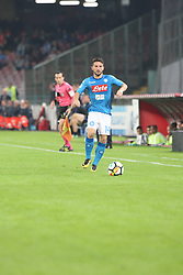 October 21, 2017 - Napoli, Campania/Napoli, Italy - Action during soccer match between SSC Napoli  and  F.C.Inter    at San Paolo  Stadium in Napoli .final result Napoli vs. F.C.Inter 0-0.In picture Dries Mertens  (Credit Image: © Salvatore Esposito/Pacific Press via ZUMA Wire)