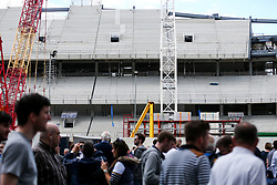 General View outside White Hart Lane as fans admire the building work for their new ground before the final game at the stadium before it's closure for demolition and redevelopment - Rogan Thomson/JMP - 14/05/2017 - FOOTBALL - White Hart Lane - London, England - Tottenham Hotspur v Manchester United - Premier League.